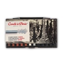 Conte a Paris Carres Set of 12 Assorted Sketching Crayons