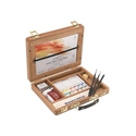 Winsor & Newton Professional Artists' Water Colour Half Pan Bamboo Box Set