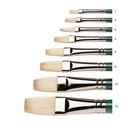 Winsor & Newton Winton Oil Hog Brushes - Flat Long Handle