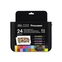 Winsor & Newton Mixed Marker Set 24 In Wallet