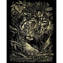 Tiger Hiding Reeves Medium Scraperfoil - Gold
