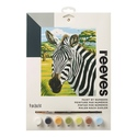 African Zebras - Reeves Paint By Numbers