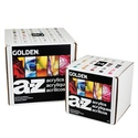 Golden A-Z Acrylic Box set of 14 samples
