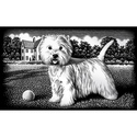 Little Westie - Reeves Mini Scraperfoil Silver
