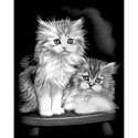 Fluffy Kittens - Reeves Medium Scraperfoil Silver
