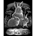 Watching Rabbits - Reeves Medium Scraperfoil Silver