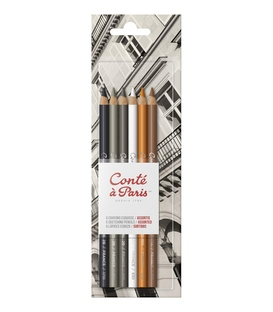 Conte a Paris Set Of 6 Sketching Pencils - Assorted