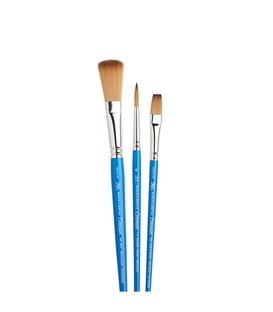 Winsor & Newton Cotman Watercolour Brush Short Handle 3pk