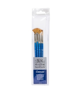 Winsor & Newton Cotman Watercolour Brush Short Handle 5pk
