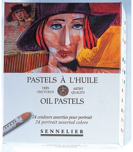 Sennelier 24 Portrait Oil Pastel Set