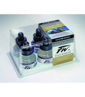 Daler Rowney FW Shimmering Colour Ink Set