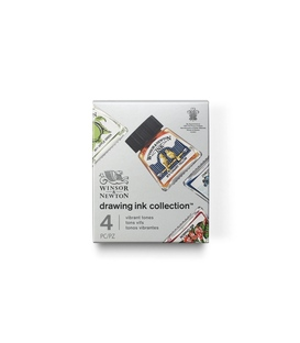 Winsor & Newton Drawing Ink Collection - Vibrant Tones Set