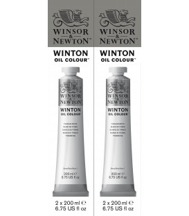 Winton Oil Colour 200ML Titanium White 2 Pack