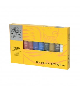 Galeria 10 x 20ml Acrylic Tube Set