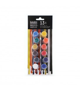 Liquitex Basics Acrylic Colour Set  12x4ml pots