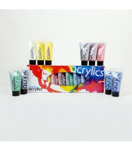 Seawhite Medium Acrylic Colour Set 10x75ml Tubes