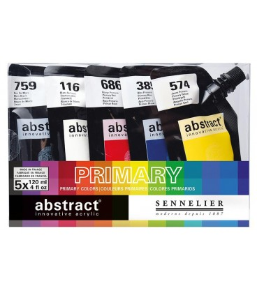 Sennelier ABSTRACT Set of 5 x 120ml - Primary